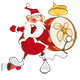Cartoon Illustration of Santa Claus for you Design