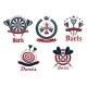 Dart Game Tournament Icons And Symbols
