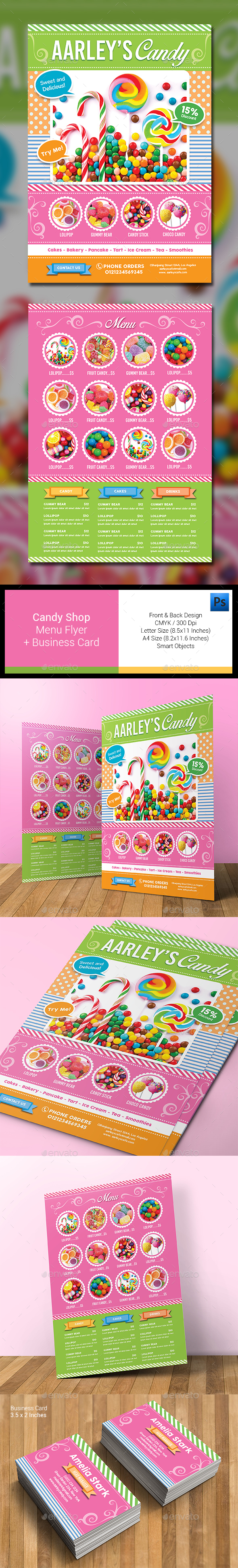 Candy Shop Menu Flyer