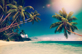 Tropical Paradise Beach Seascape Travel Destination Concept