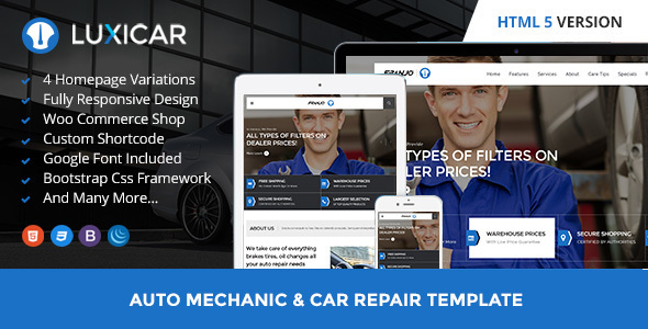 Luxicar Automotive & Business HTML5 template