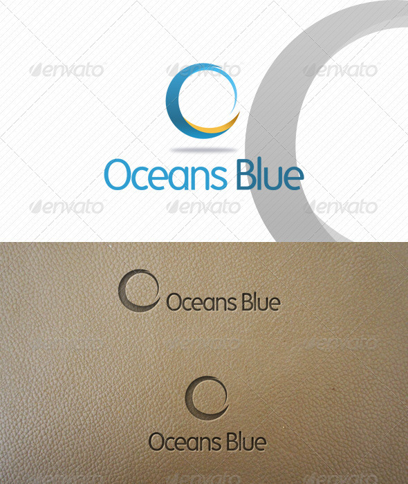 Oceans Blue Logo Template - Abstract Logo Templates