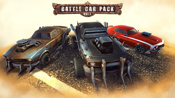 Battle Car Pack Vol.1 - 3DOcean Item for Sale
