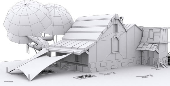 Low Poly House 5 Model - 3DOcean Item for Sale