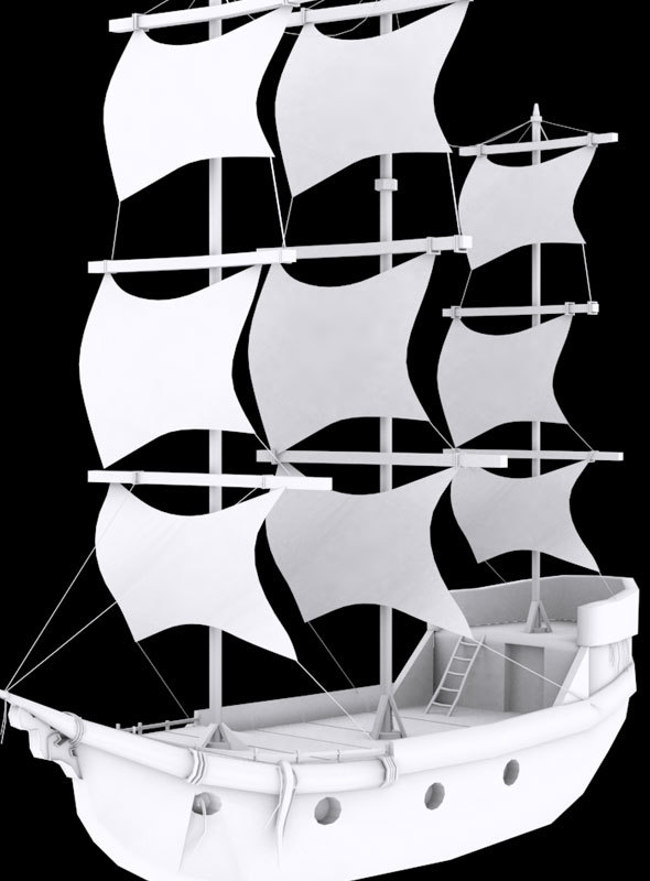Low Poly Ship 3 Model - 3DOcean Item for Sale