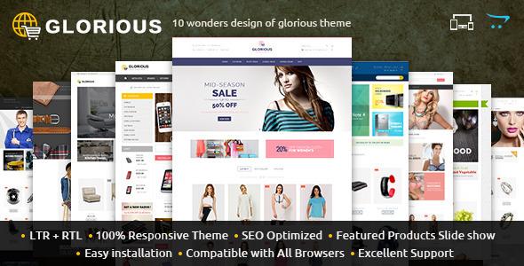 Glorious - Opencart Responsive Theme