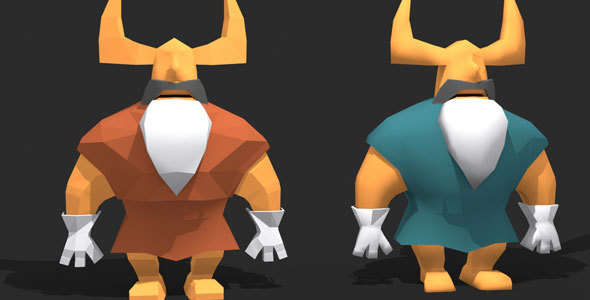 3DOcean Low Poly Viking Character 13308692