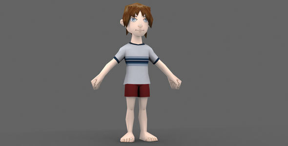 Low Poly Boy Model - 3DOcean Item for Sale
