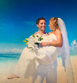 Couple Wedding Beach Love Married Party Celebration Concept