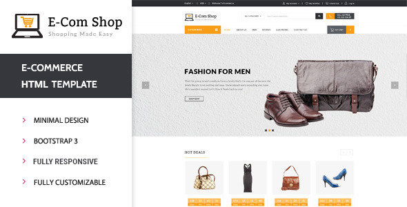 Ecom - Responsive eCommerce HTML Template