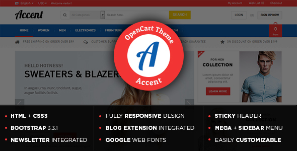 Accent - Responsive Multipurpose OpenCart Theme