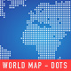 free logo template World Map - Dots + Squares