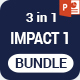IMPACT 1 >3 in 1 PowerPoint Template Bundle