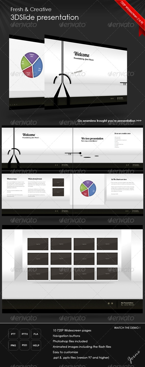 Fresh 3DSlide Presentation (HD) - GraphicRiver Item for Sale
