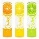 Banners with Fresh Citrus Fruit