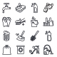 Cleaning Outlines Vector Icons