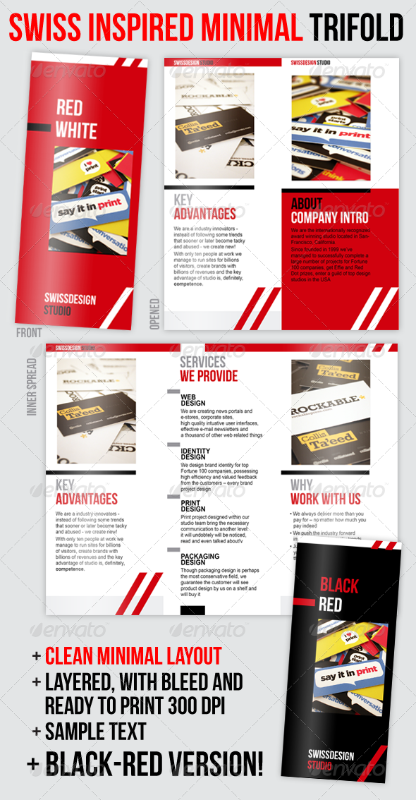 GraphicRiver Swiss Minimal Style Professional Trifold Brochure 159819