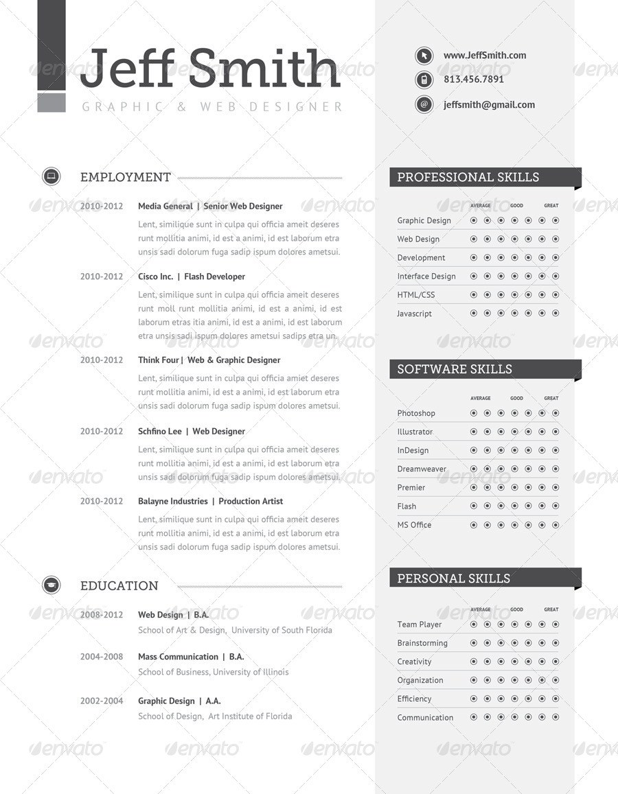 Resume Set | Volume 1