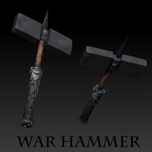 War Hammer - 3DOcean Item for Sale