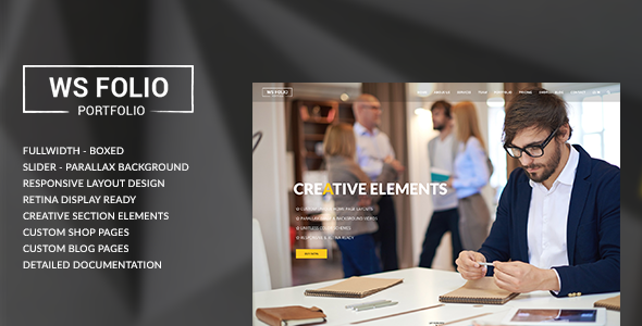 WS Folio - Responsive Portfolio HTML5 Template