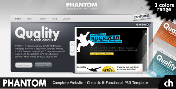 PHANTOM - Climatic & Functional PSD Template - Phantom Preview