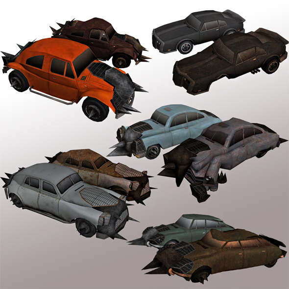 Sedans with Armor Package  - 3DOcean Item for Sale