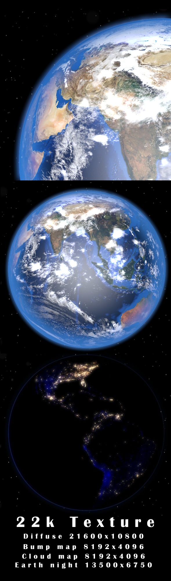 Realistic Earth - 3DOcean Item for Sale