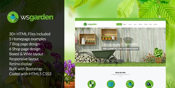 WS Garden - Responsive Gardening HTML Template
