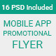 Material Design Mobile App Promotional Flyer