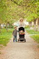 Mother is walking