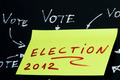 Elections text conception over black - PhotoDune Item for Sale