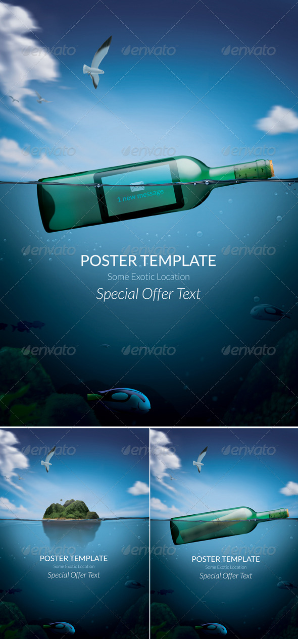 GraphicRiver Exotic Poster Template 159938