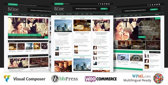 Bzine - WordPress Premium HD Magazine