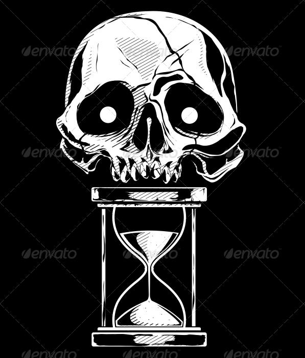 Skull with Sandtime