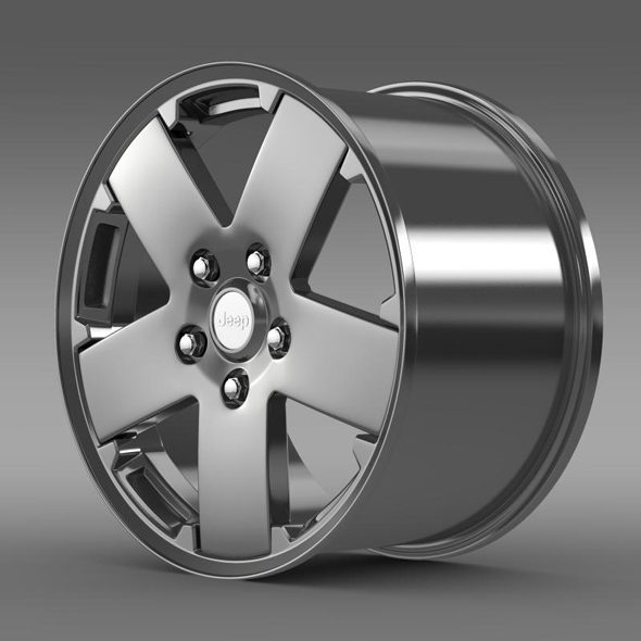 Jeep Wrangler rim - 3DOcean Item for Sale