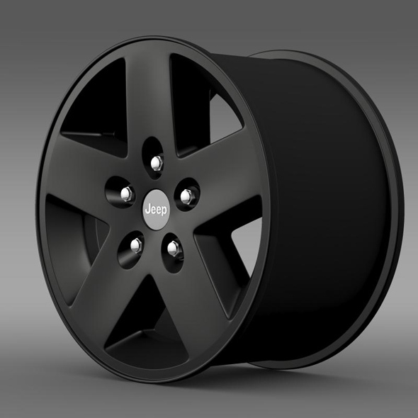 Jeep Wrangler Rubicon black rim - 3DOcean Item for Sale