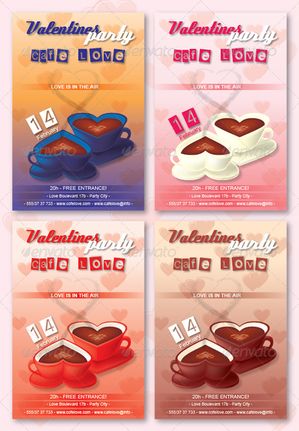 GraphicRiver Valentines Flyer 160007
