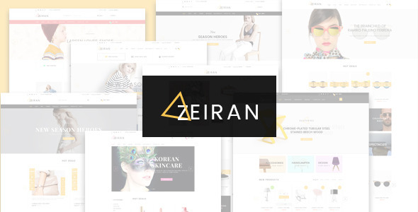 Zeiran - Multipurpose PSD Template
