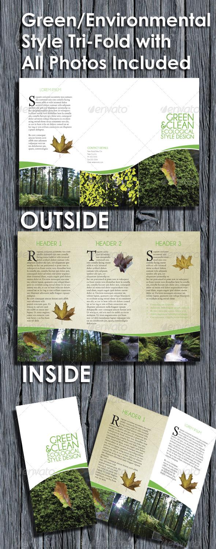GraphicRiver Environmental Style Tri Fold Brochure 152269