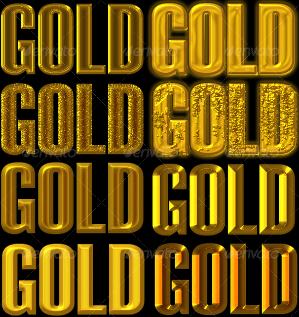 GraphicRiver Golden Layer Style for Adobe Photoshop 53138