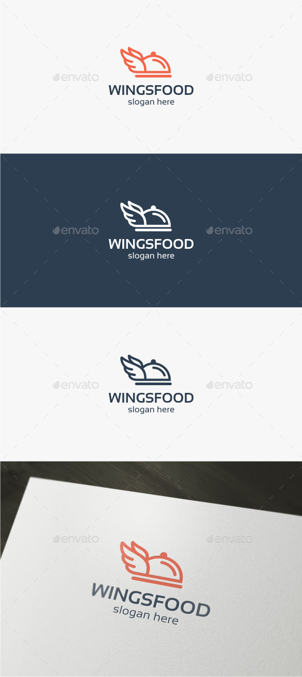 Wings Food - Logo Template