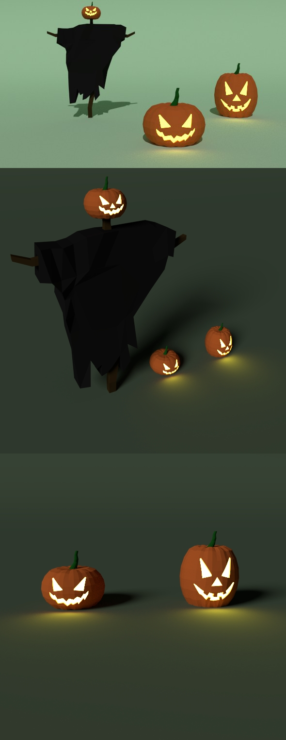 Low Poly Pumpkin - 3DOcean Item for Sale
