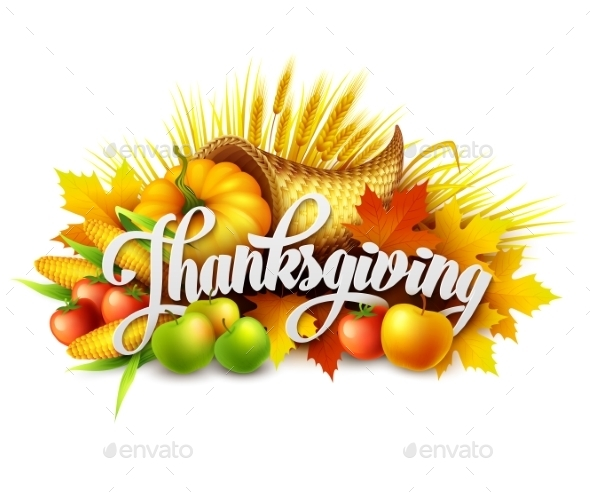 Illustration of a Thanksgiving Cornucopia