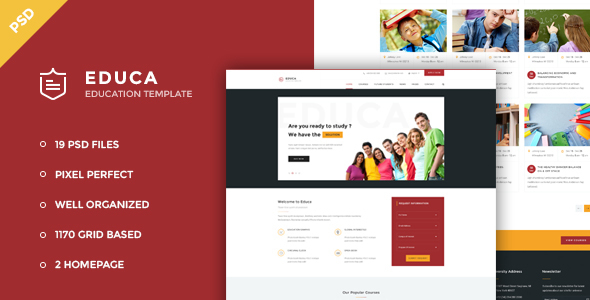 Educa - Education & Courses PSD Template