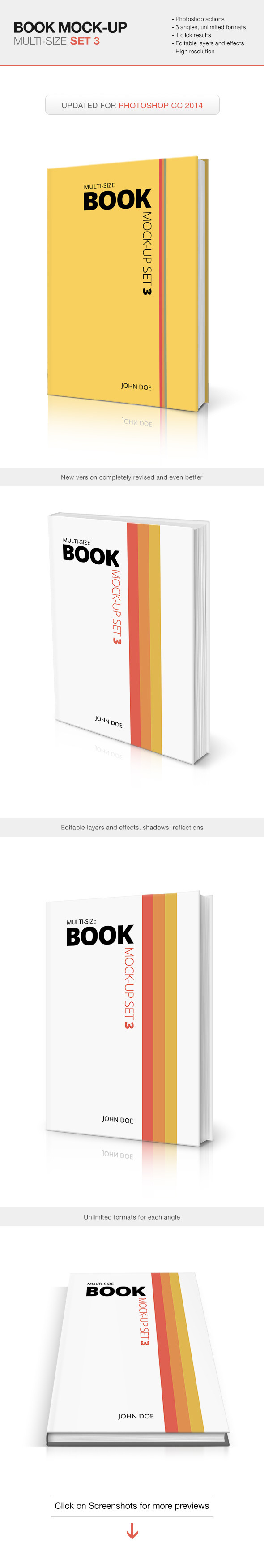Multi-size Book Mockup - Set 3