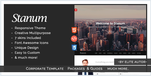 Stanum - Responsive Creative Bootstrap Template