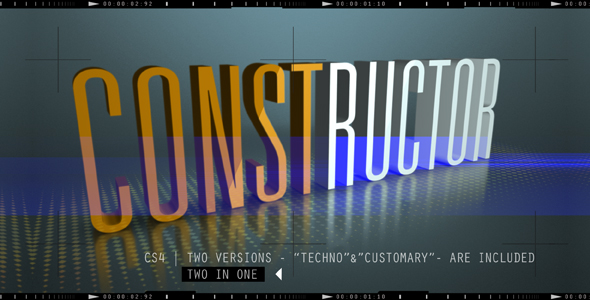 After Effects Project - VideoHive CONSTRUCTOR 160170