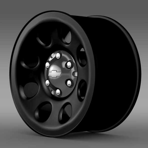 Chevrolet Tahoe Police rim - 3DOcean Item for Sale