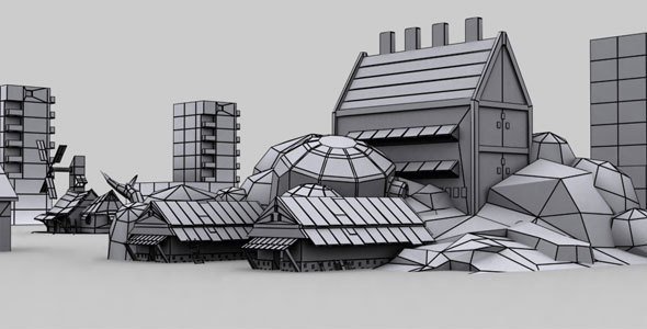 Scene Low Poly Model - 3DOcean Item for Sale