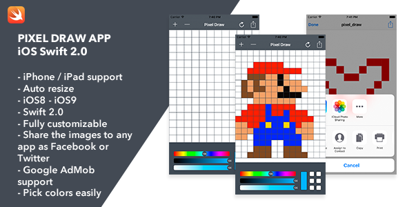 Pixel Draw iOS App - CodeCanyon Item for Sale